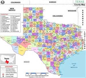 Counties In Tx County And Maps On