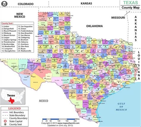 map of texas showing texas county texas and maps on