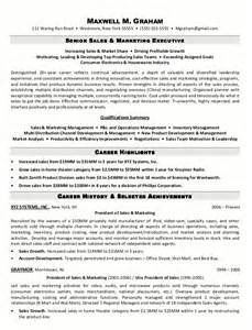 Sle Executive Resume by Resume Sle 5 Senior Sales Marketing Executive Resume Career Resumes