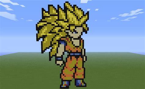 Imagenes De Goku En Minecraft   minecraft son goku super saiyan 3 by kurodrago on deviantart