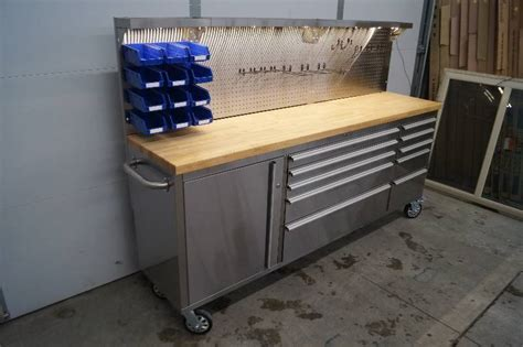 rolling tool bench stainless steel rolling tool bench moorhead liquidation power equipment tools small