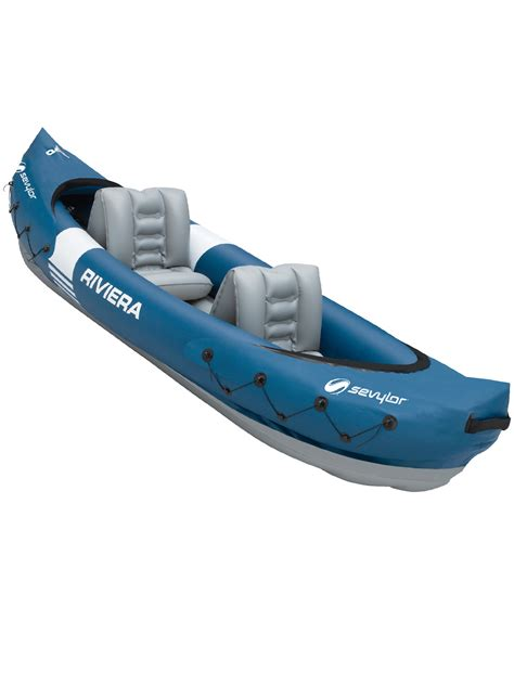 inflatable boat carry bag sevylor riviera inflatable kayak tandem 2 person man canoe