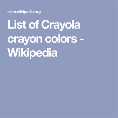 list of crayola colors best 25 crayola crayon colors ideas on 6 by 6