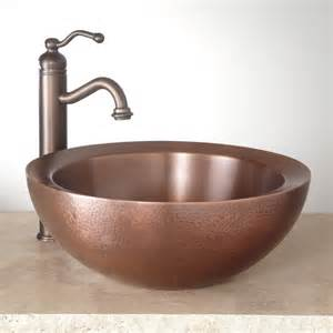 copper vessel sinks bathroom 16 quot casalina double wall hammered copper vessel sink