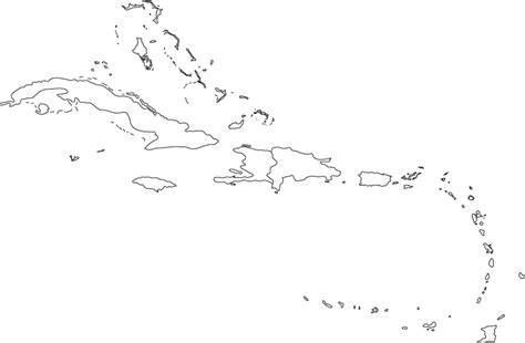 printable maps caribbean islands caribbean outline map
