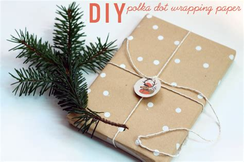 How To Make Gift Paper - diy polka dot wrapping paper squirrelly minds