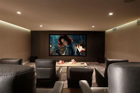 home theater  gray recliners hgtv