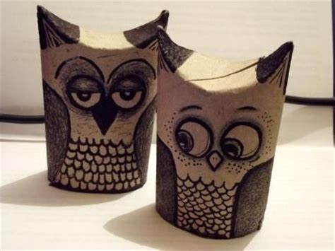 How To Make Owls Out Of Toilet Paper Rolls - toilet paper roll owls