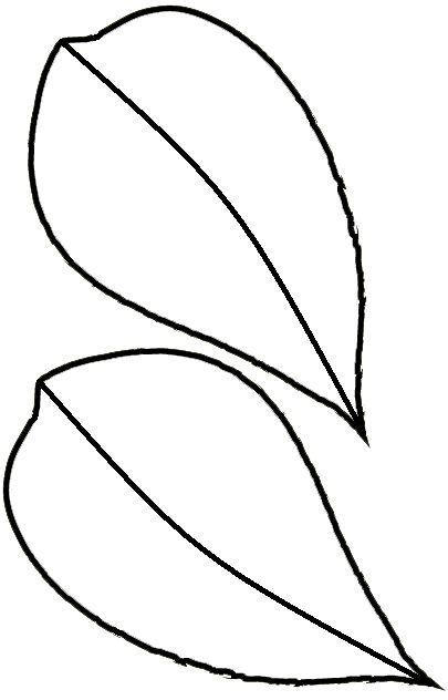 leaf template free clip free clip sunflower leaf template clipart best