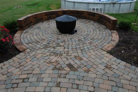 pit on mini patio outdoor spaces