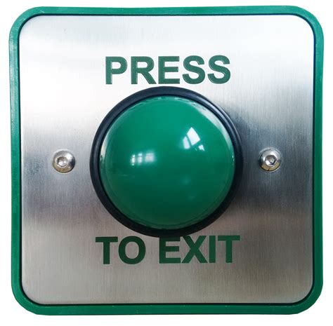 green domed exit button from cqr security range of