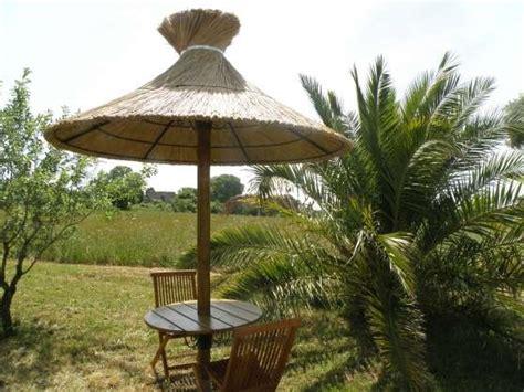 Le parasol tropical JARDIN NATURE PAVILLON ARBRI SERRE à Montpellier REFERENCE: JAR PAV