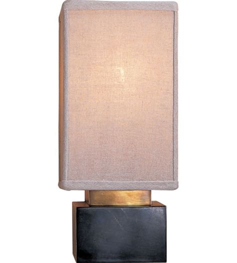 L Shade Sconce visual comfort clodagh chelsea rectangle sconce in bronze with linen shade cl2002bz l