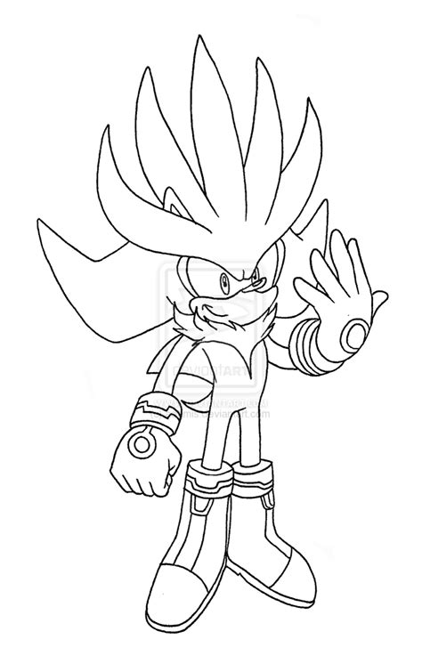 Super Sonic Super Shadow And Super Silver Coloring Pages Silver The Hedgehog Coloring Pages