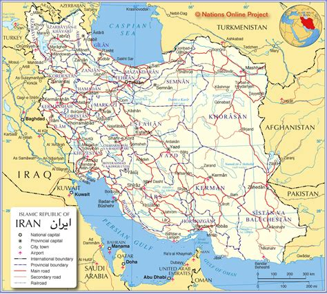 map of iran cities political map of iran nations project