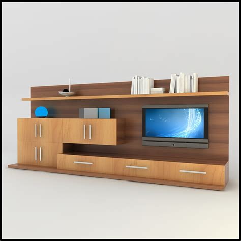 modern tv wall unit modern tv wall unit 3d model