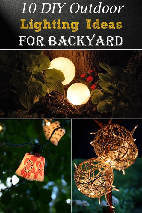 cheap backyard lighting ideas 10 diy outdoor lighting ideas for backyard