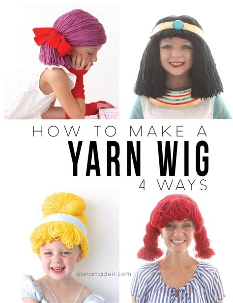 tutorial wig making tutorial how to make a yarn wig 4 ways made