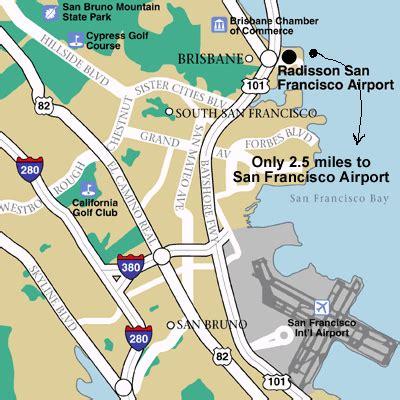 san francisco map of airport hotels near san francisco international airport sfo