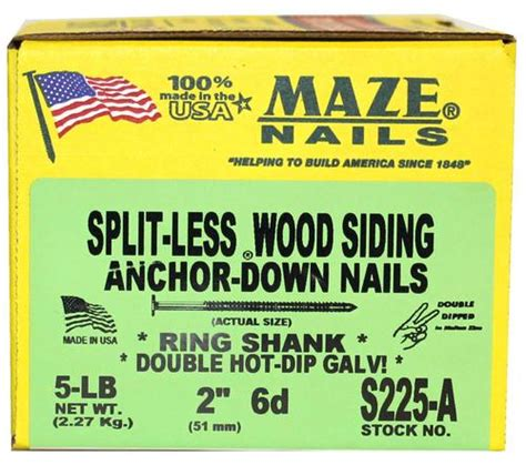 Cedar Siding Nails Menards - maze 6d hdg split less siding nail at menards 174