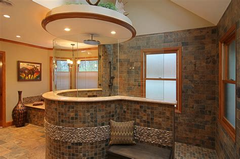 custom master bathrooms custom tile master bath eclectic bathroom st louis