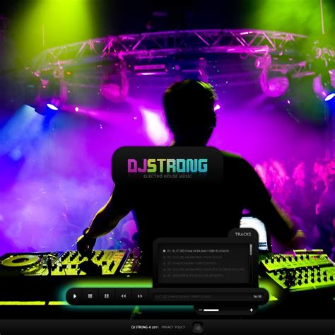 dj flash cms template web design templates website