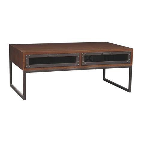 table acier bois industriel la table basse design factory le cachet incontestable de