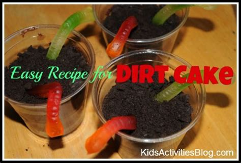 easy recipe for kids dirt cake