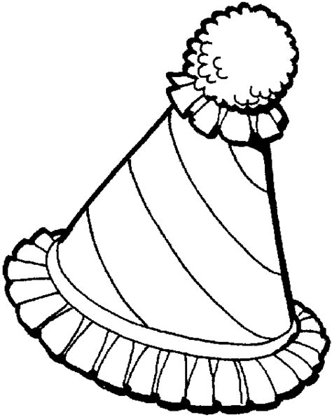 new year s party hats coloring pages the gallery for gt party hat coloring pages