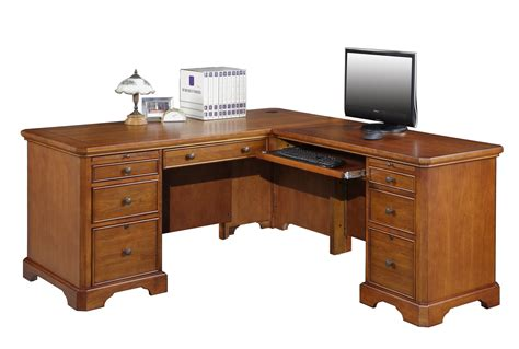 L Shaped Home Office Desks Topaz Home Office L Shaped Desk 11846 Cherry Furniture
