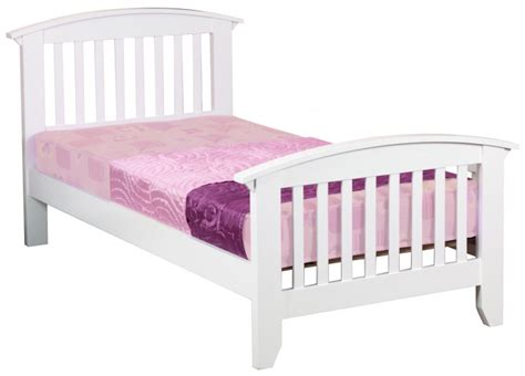 White Single Wooden Bed Frame Sweet Dreams Kipling Ruby White 3ft 90cm Single Wooden Bed Frame