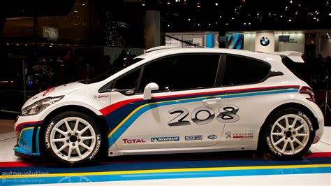 peugeot motor cars paris 2012 peugeot 208 type r5 rally car live photos
