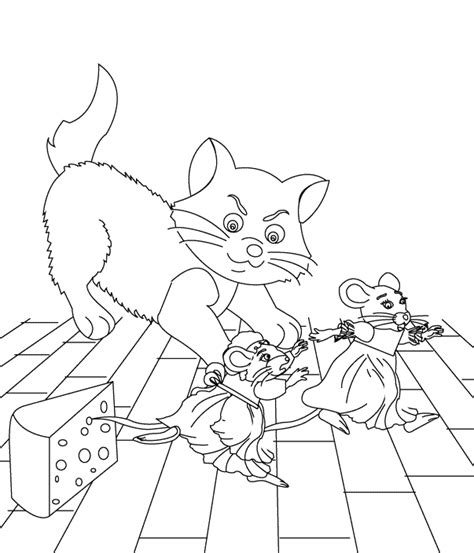 town mouse coloring page classic tales faculty of education university of