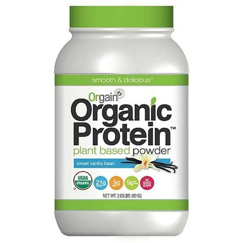 b protein powder contains orgain organic plant based protein powder sweet vanilla