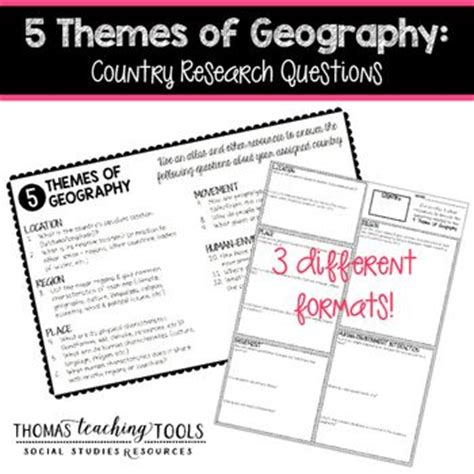 themes of geography quiz 31 best images about 5 themes of geography ss7 on