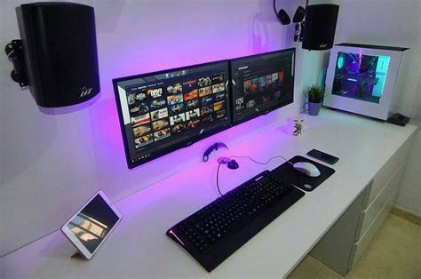 computer setup ideas  pinterest  desk gaming