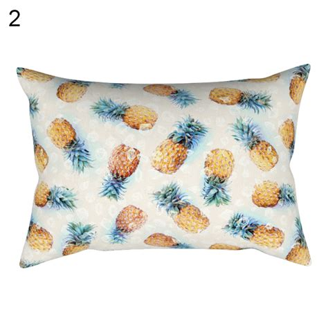 novelty home decor cute ice cream cartoon pillow case waist throw cushion
