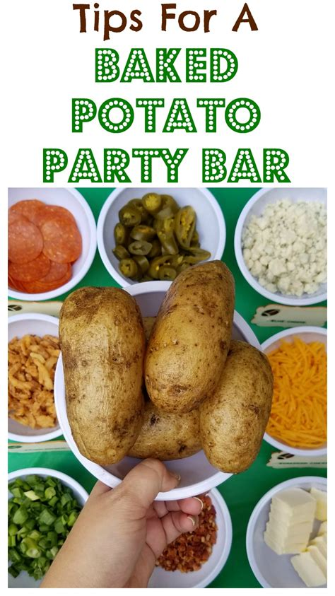 toppings for a baked potato bar football party with a baked potato bar