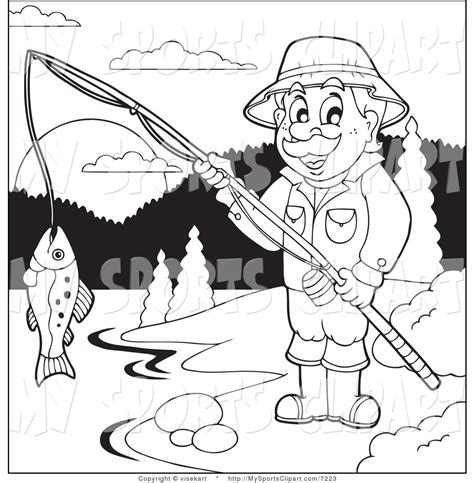 lake fish coloring pages line drawing sports clip art 85