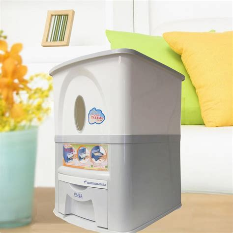 Dispenser Rice tayama 33 lbs capacity rice dispenser in white pg 15