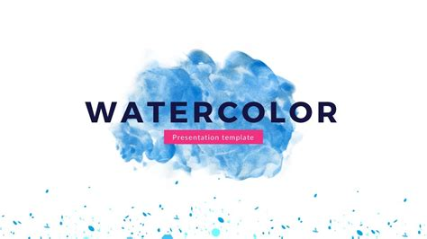 themed powerpoint templates free watercolor slides theme free presentation