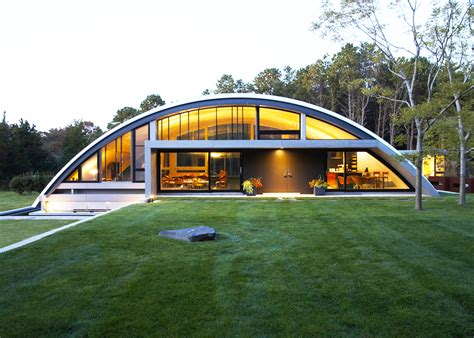 Mb Architecture S Stunning Energy Efficient Green Arc House Is Mostly Buried