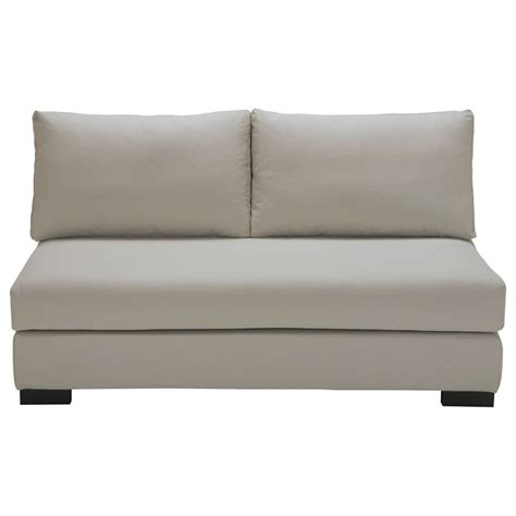 light grey loveseat 2 seater cotton armless modular sofa in light grey terence