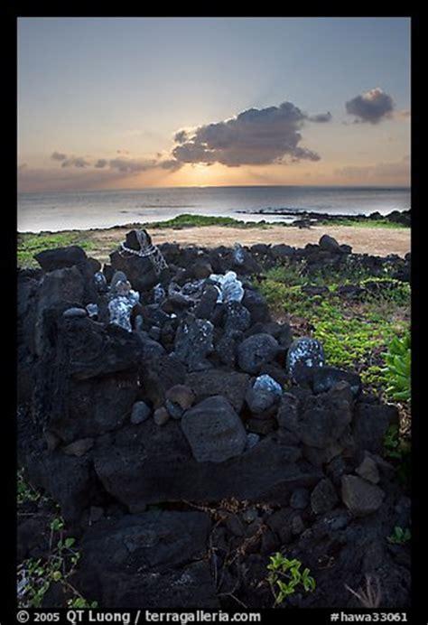 Hawa Acean Colour picture photo heiau and at oahu island