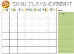 monthly meal planner website resources pinterest