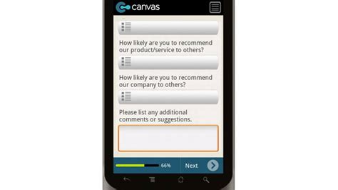survey mobile app canvas sle customer satisfaction survey mobile app