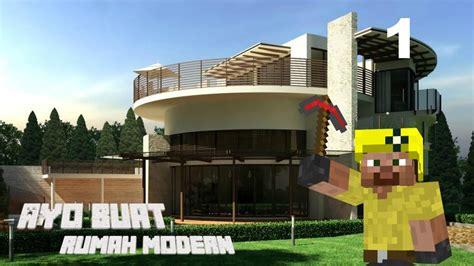 membuat rumah di minecraft minecraft indonesia tutorial cara membuat rumah modern