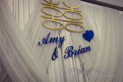 Wedding Backdrop With Names by Joyce Wedding Service 187 And Brian S Wedding On May 17