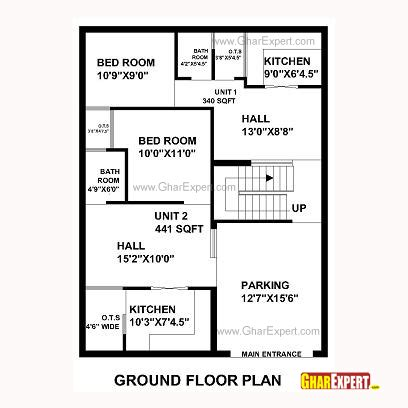 30 x 30 sq ft home design house plan for 30 feet by 40 feet plot plot size 133