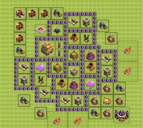 layout of coc th7 best defense quotes